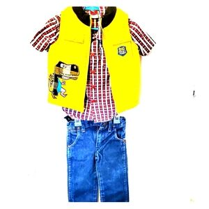 2t boys outfit  wranglers, vest